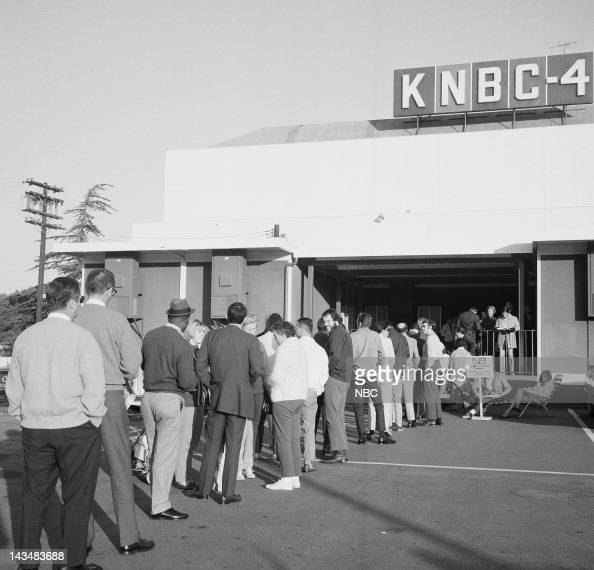 Fans line up outside the NBC studios for tickets to the Tonight Show starring Johnny Carson on November 17 1969