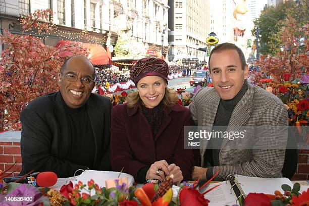 S 77TH THANKSGIVING DAY PARADE Aired Pictured NBC News'/hosts Al Roker Katie Couric Matt Lauer at the 2003 Macy's Thanksgiving Day Parade Photo by...