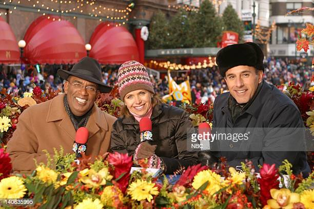 S 76TH THANKSGIVING DAY PARADE Aired Pictured hosts NBC News' Al Roker Katie Couric Matt Lauer at the 2002 Macy's Thanksgiving Day Parade on November...