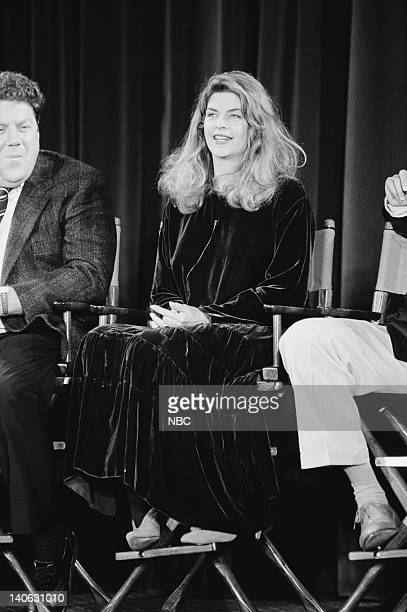George Wendt and Kirstie Alley answer questions during the 200th Episode Celebration Special Photo by Alice S Hall/NBCU Photo Bank