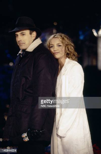 Host Matt Lauer and singer Britney Spears at the Christmas tree lighting ceremony on December 1 1999 Photo by Craig Blankenhorn/NBC NewsWire