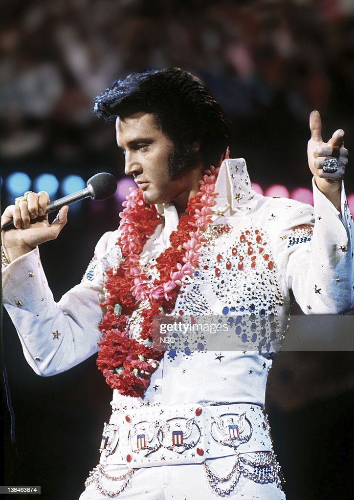 Elvis Presley during a live performance at Honolulu International Center in Honolulu, Hawaii on January 14, 1973 for his NBC special