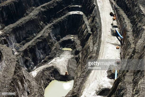Airflows enters the Fenton Decline portal top and the Drake Decline portal of the Invincible Underground Mine at the St Ives Gold Mine operated by...