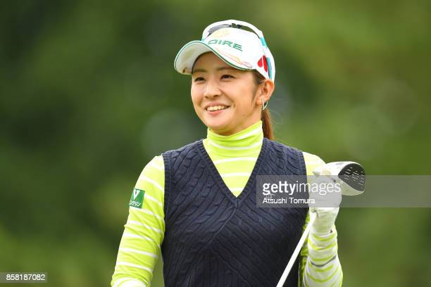 Airi Saito of Japan smiles during the first round of Stanley Ladies Golf Tournament at the Tomei Country Club on October 6 2017 in Susono Shizuoka...