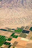 Airiel view of farm land.