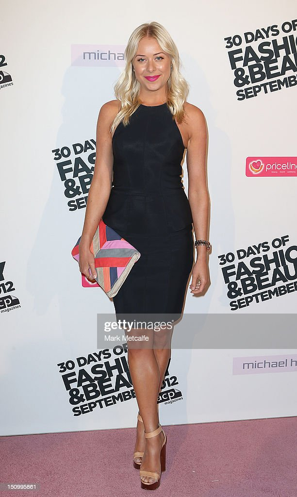 Airlie Walsh poses during the 30 Days of Fashion & Beauty Launch at Sydney Town Hall on August 30, 2012 in Sydney, Australia.