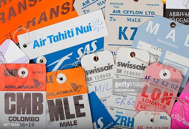 collection d'Étiquettes pour bagages des compagnies aériennes