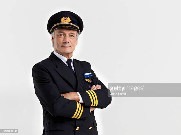 Airline pilot portrait