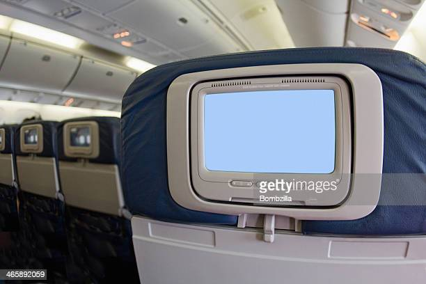 Airline video screen on back of seat