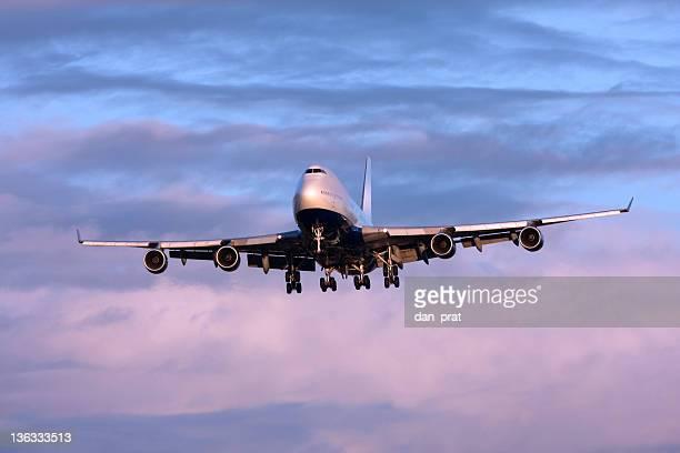 Airliner at Dusk