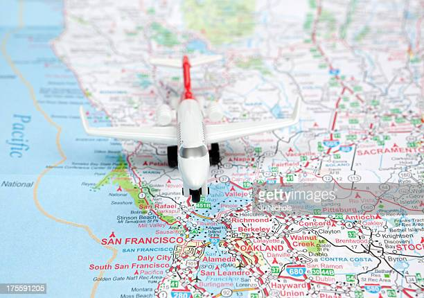 Airliner on San Francisco Road Map
