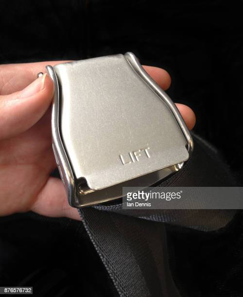 Airliner seatbelt Buckle in hand