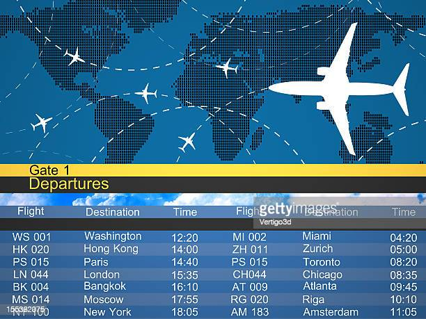 Airlines schedule and traffic graphic