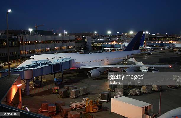 Airplane at dawn