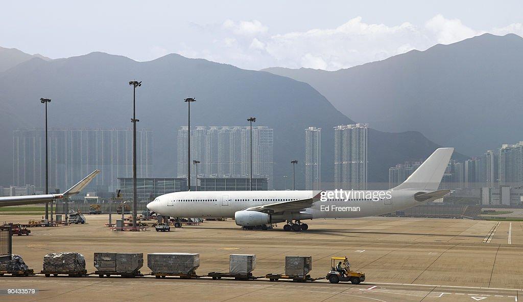 Airplane at Hong Kong Airport