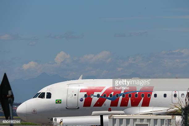 TAM airplane at Santos Dumont Airport in Rio de Janeiro Brazil on 23 December 2016 With the festivities of Christmas and New Year the movement in the...