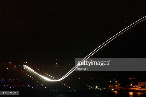 Airplane during takeoff