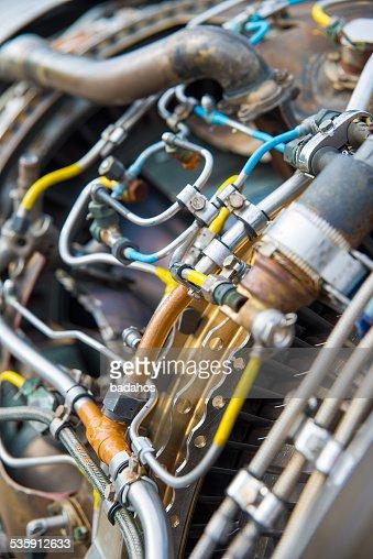Motor de avión : Foto de stock