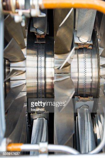 Motor de Avião : Foto de stock