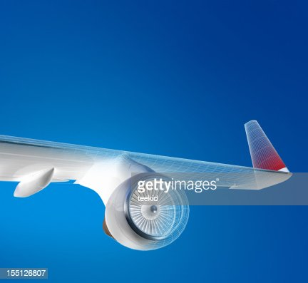 Airplane Flying Above The Sky : Stockfoto