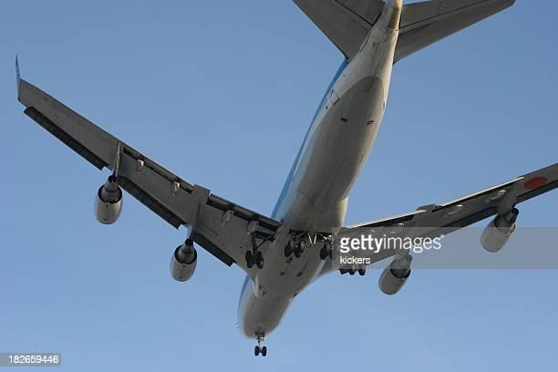 Avión desde abajo
