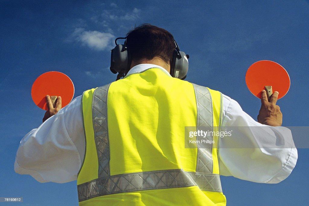 Airplane ground staff