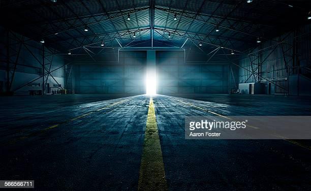 Airplane hangar closed