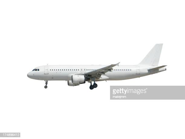 Airplane isolated in white background