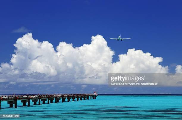 Airplane Landing at Shimojishima