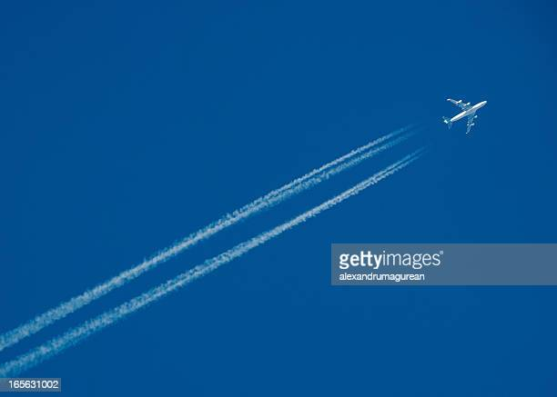 Airplane Leaving Contrail