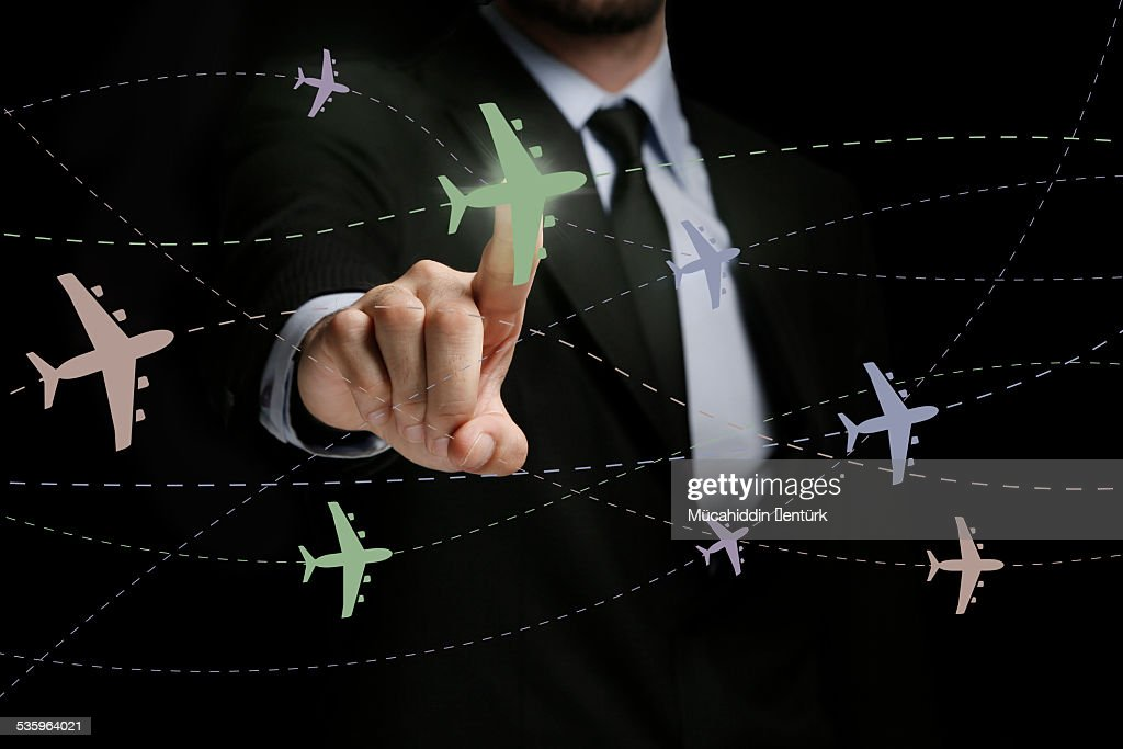 Airplane lines : Stock Photo