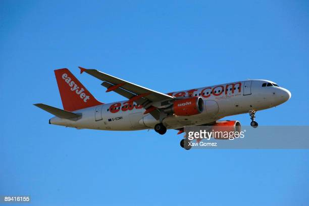 Airplane of the Easyjet company flying