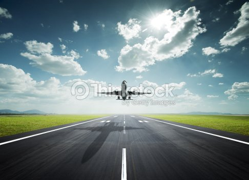 airplane on a sunny day : Stock Photo