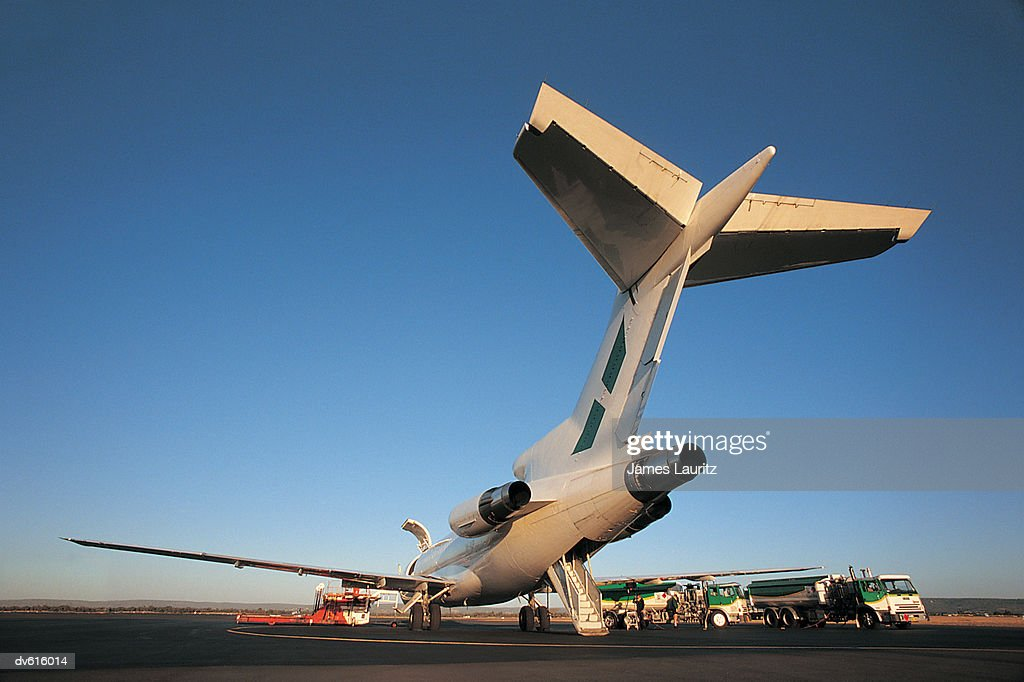 Airplane on Tarmac : Stock Photo