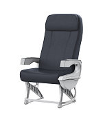 Airplane Seat isolated on white background. 3D render