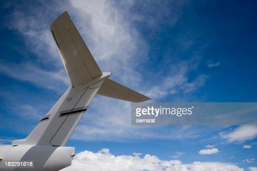 Airplane Tail & Blue Sky-1