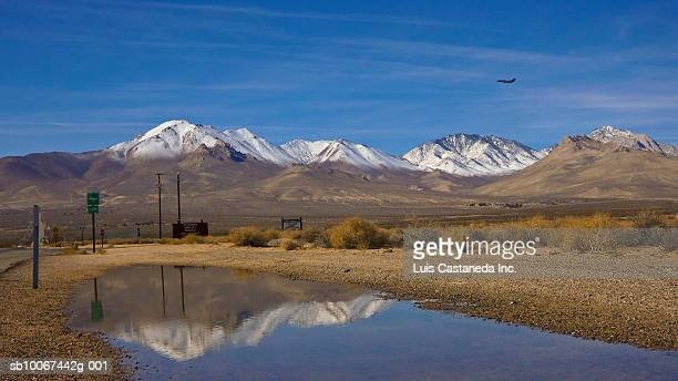Airplane taking off from Inyokern Airport