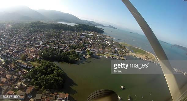 Airplane taking off in Paraty, Rio de Janeiro