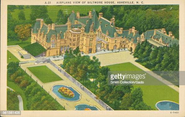 Airplane View of Biltmore House Asheville North Carolina Asheville North Carolina 1926