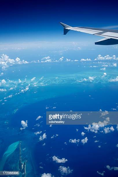 airplane view of the Caribbean