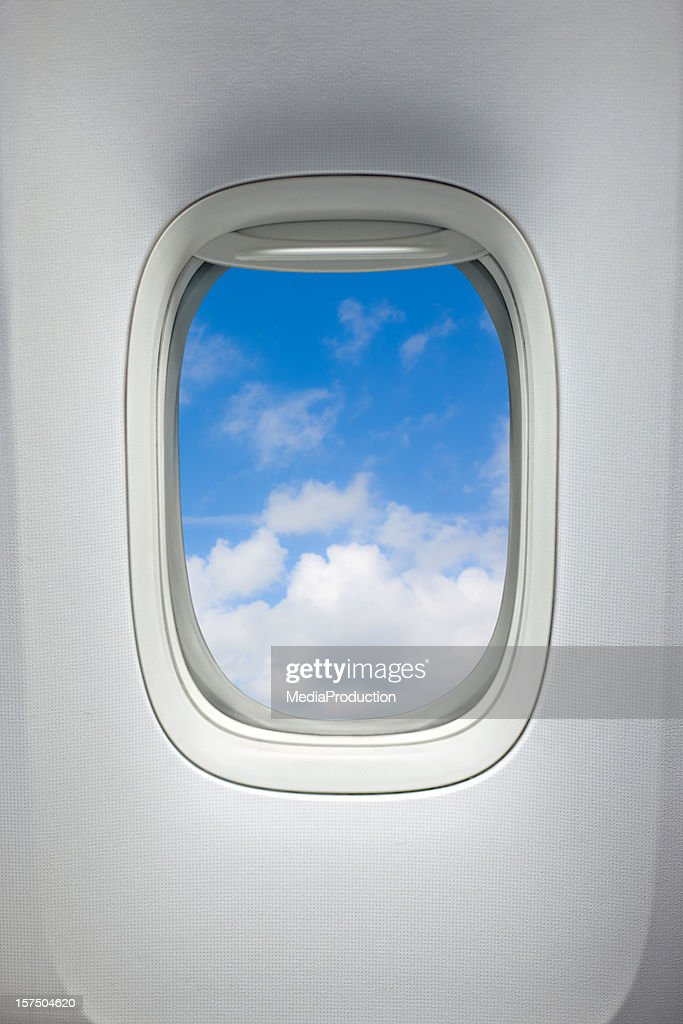 Airplane window (Clipping Path)