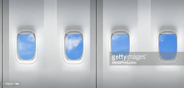 Flugzeug Fenster Kussmündern bedruckt