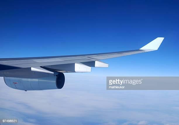 Ala de avión y motor