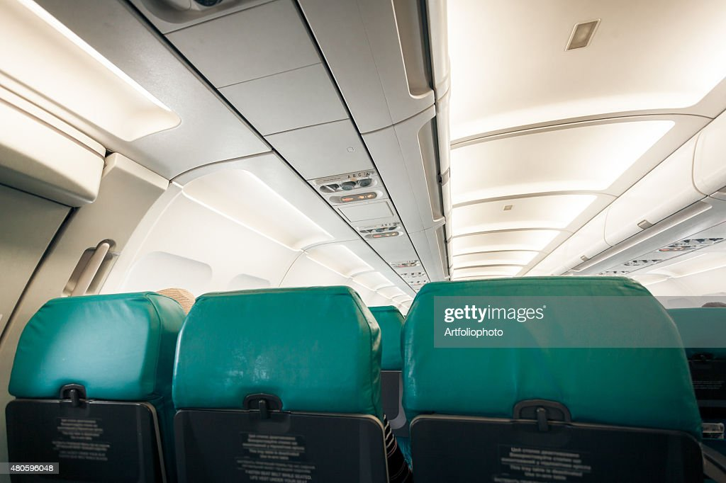 airplane with row of seats : Stock Photo