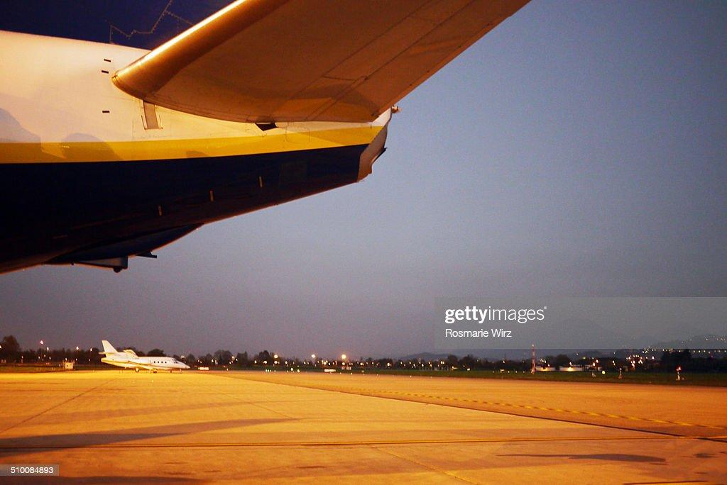 Airport at dawn
