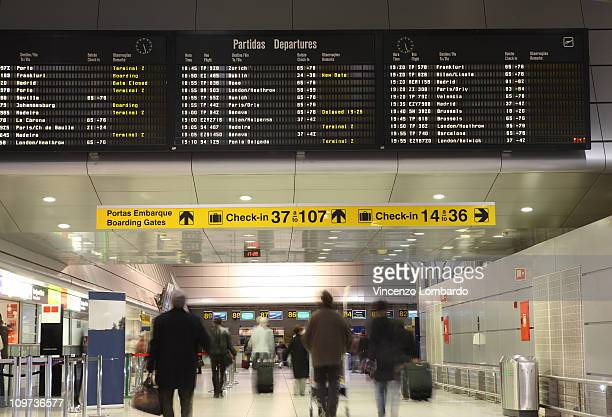 Airport, Boarding Gates Hallway and flight Arrival