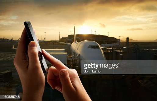 Airport calling : Stock Photo