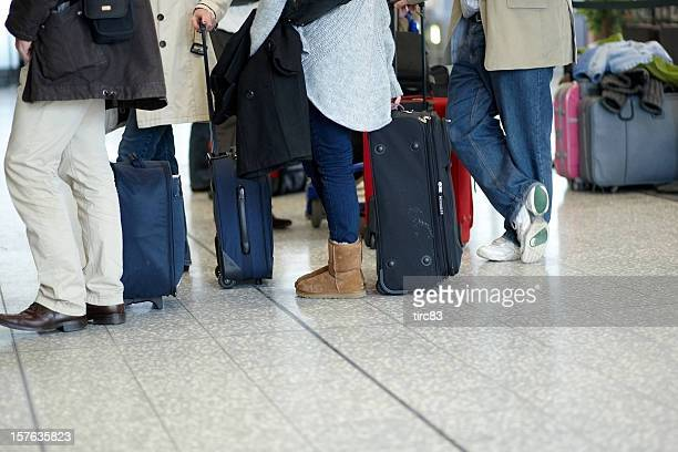 Airport check-in-Schlange