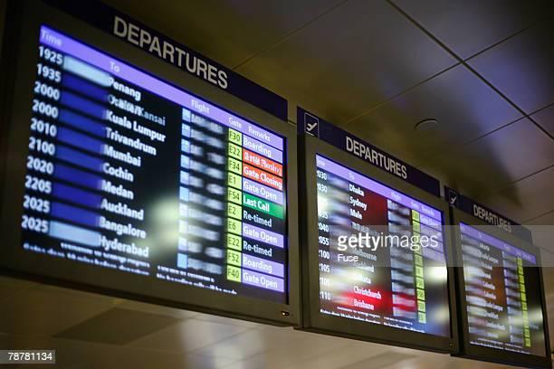 Airport Departure Schedule Signs