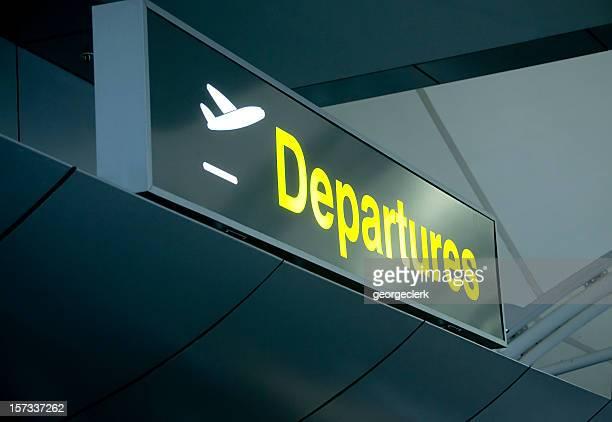 Au départ de l'aéroport